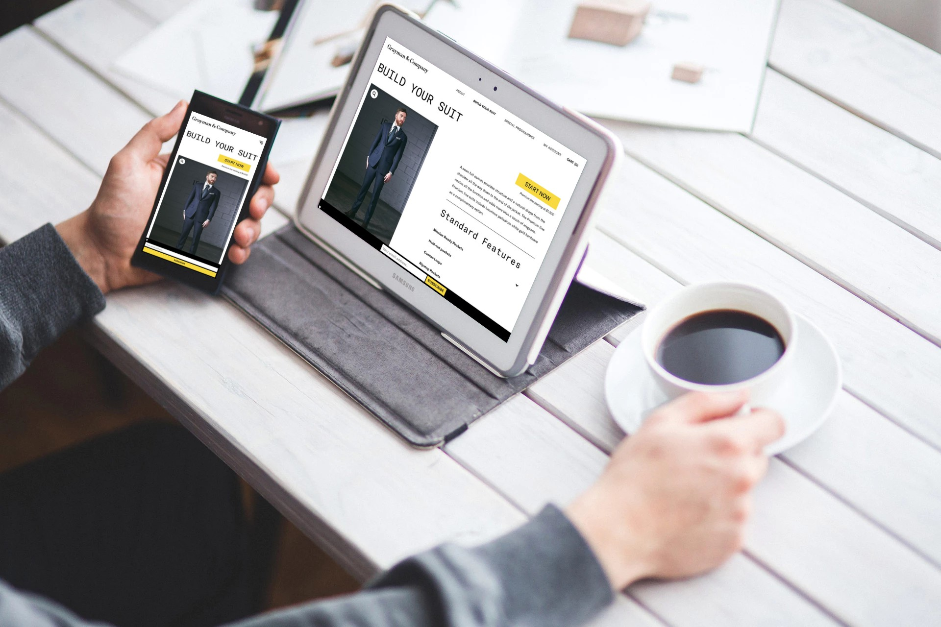 Grayman & Company - Custom Suit Builder