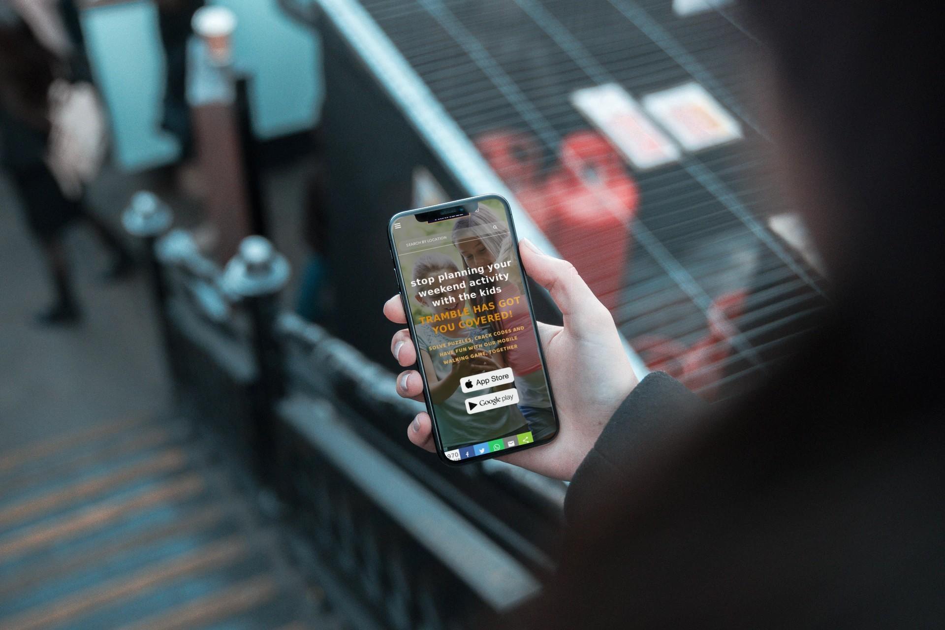 Tramble App - Mobile Landing Page